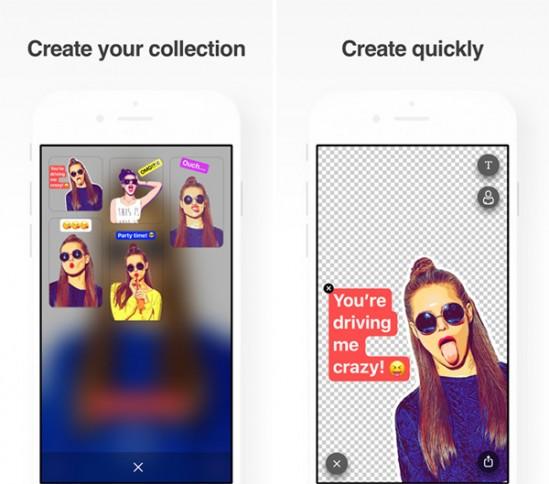 셀카를 스티커로 바꿔주는 인공지능 카메라 앱 스티키AI - 프리즈마 제공